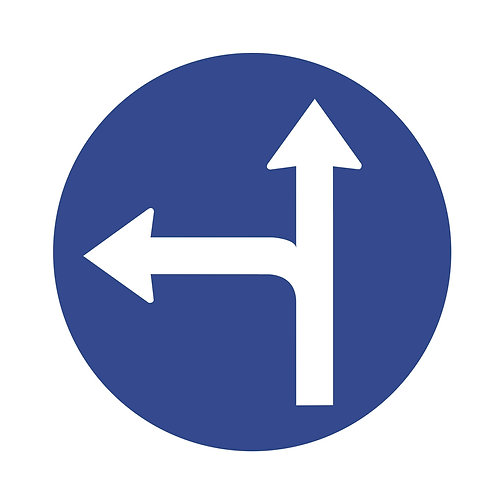 Straight or Left Turn Direction