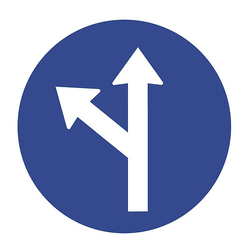 Straight or Left Direction