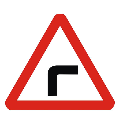 Right Sharp Bend Sign