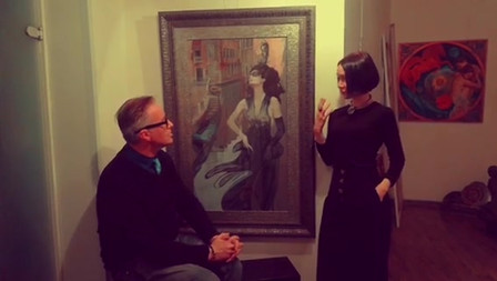 Moscow meeting with artist Valueva