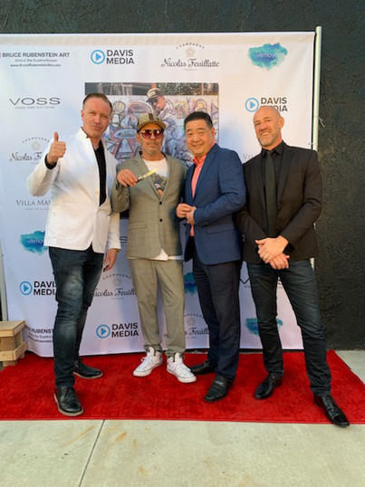 Art launch with artist and producer Bruce Rubenstein Los Angeles