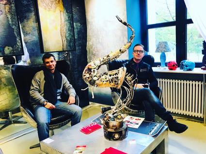 With Artist Gregory Lysak, St. Petersburg, Russia