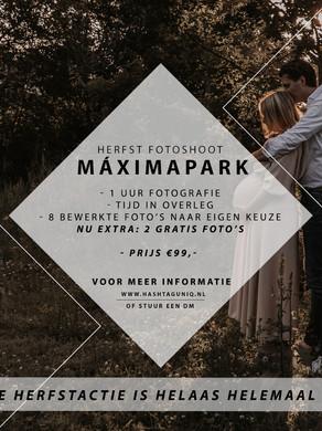 Herfst fotoshoot in het Máximapark