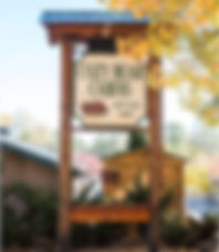 Cozy Bear Cabins sign