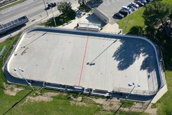 Roller hockey rink