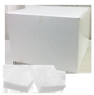 コットン エンボス(白・8×8cm 500g)