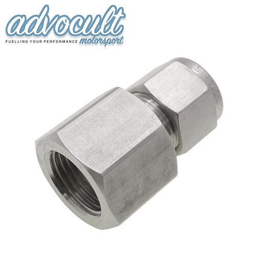 """5/16"""" HARD LINE COMPRESSION ADAPTOR TO 1/4""""BSPP FEMALE"""