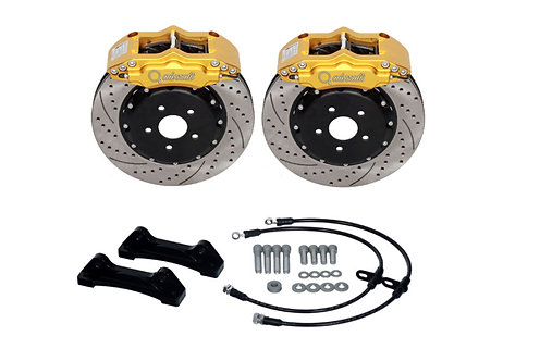 "MINI R53 COOPER S (01-06) FRONT BRAKE KIT 6-POT 345X32mm (17/18""+)"