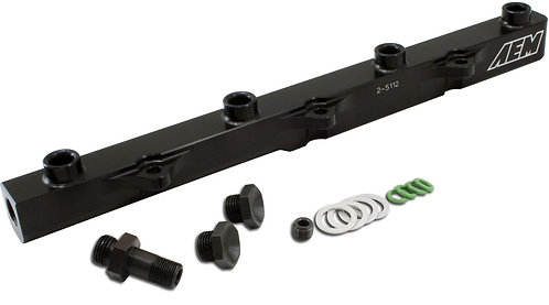 AEM High Volume Fuel Rail. Black. Honda F20C1 & F22C1 (S2000)