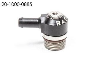 Radium Barbed male x AN ORB low profile swivel elbows