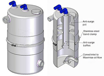 Mocal dry sump tanks