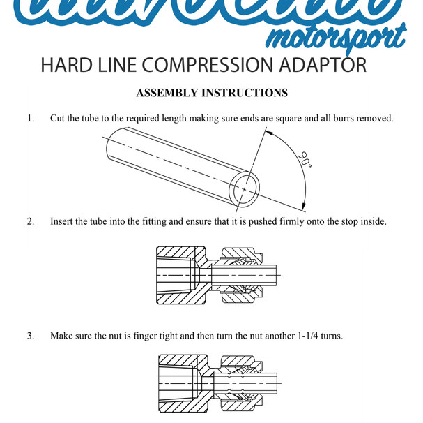 Hardline compression adaptor assembly instructions