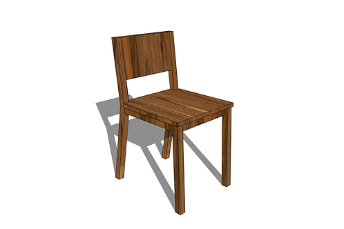 Modern Shortback Dining Chair