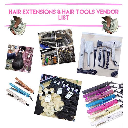 HAIR EXTENSION & HAIR TOOLS VENDOR