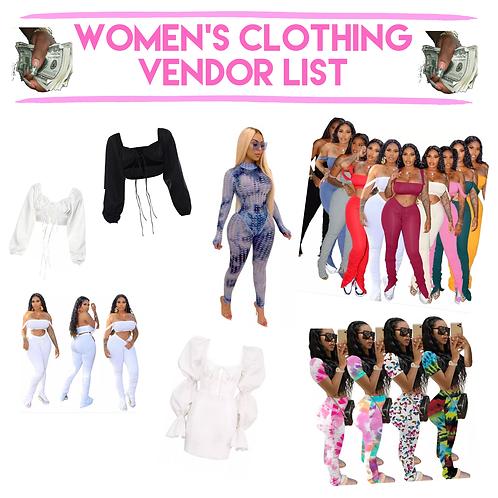 WOMEN'S CLOTHING VENDOR