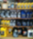 In store shelf of fiberglass repair supplies