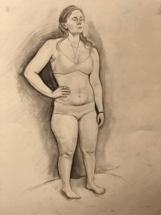 Figure Drawing Study Front