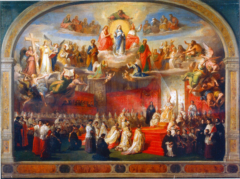 Blessed Pope Pius IX proclames the Dogma of the Immaculate Conception