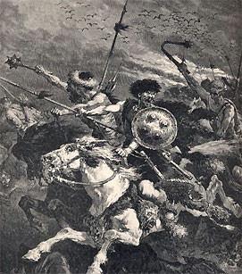 The Huns who overcame the Roman Empire