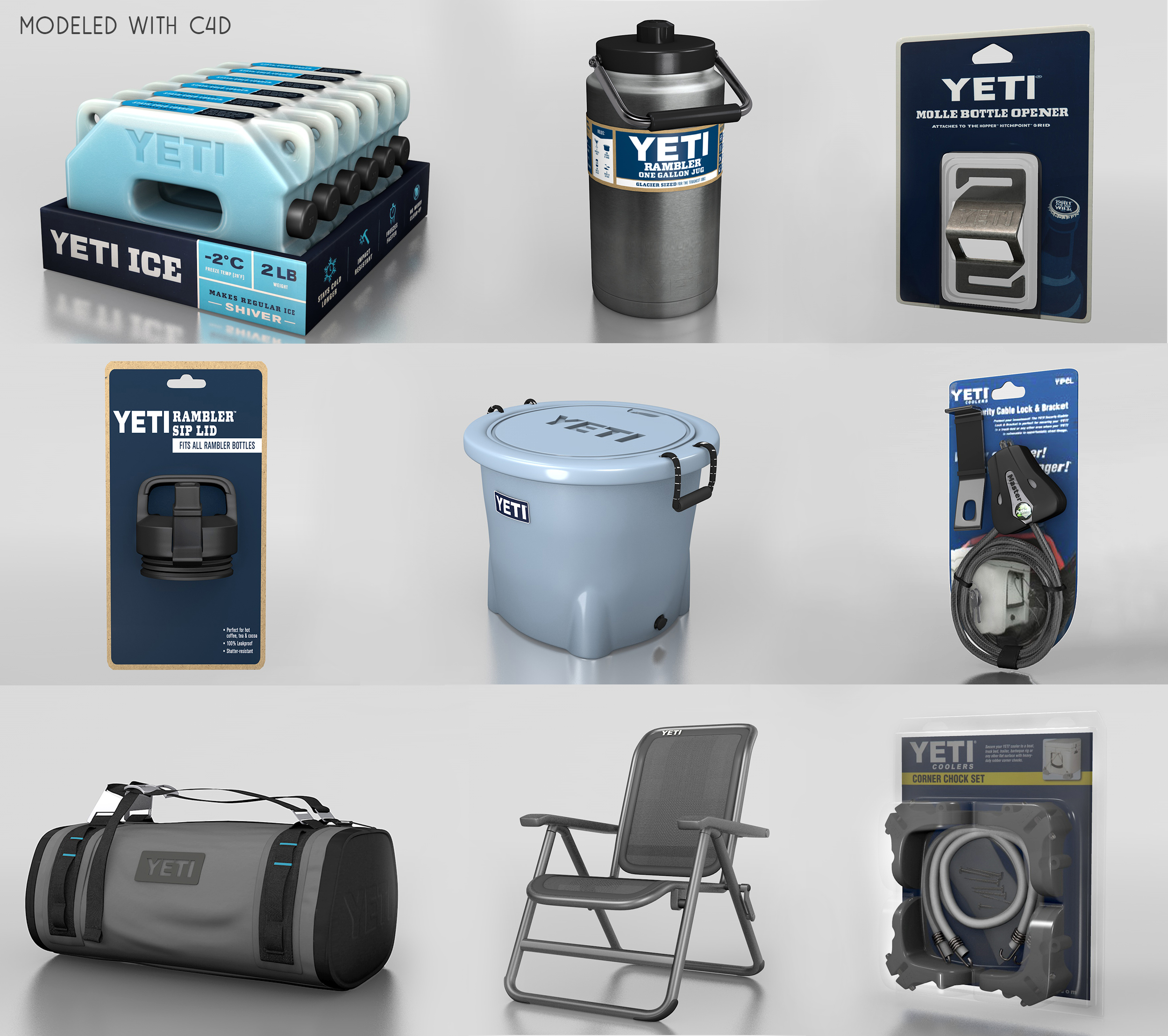 Yeti Models Collage