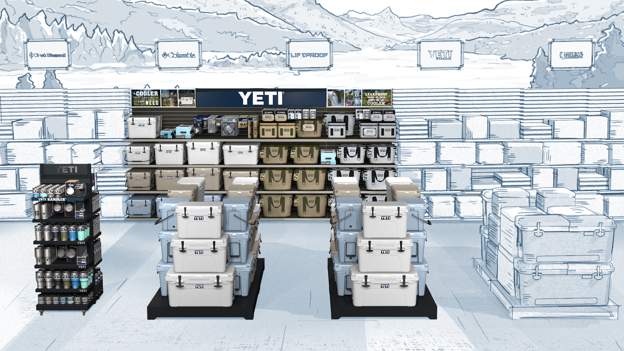 Yeti Bass Pro Shop Environment