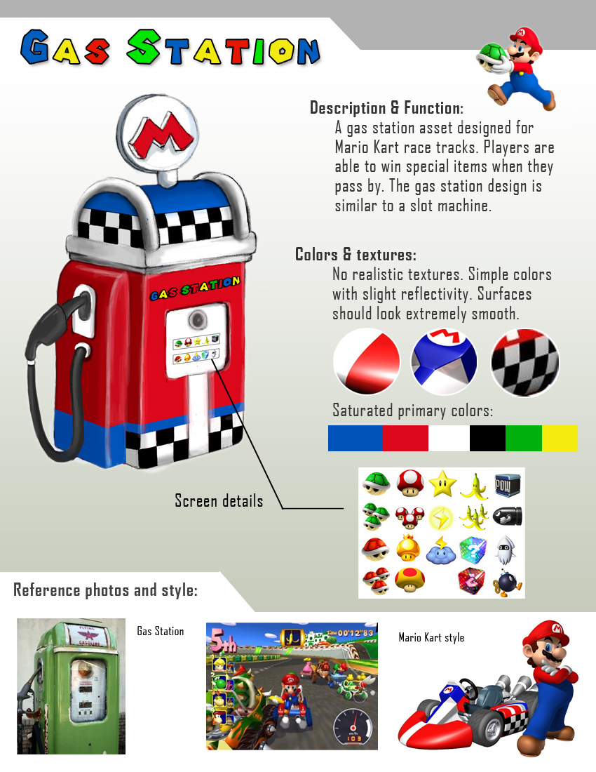 Mario Kart Gas Station Concept