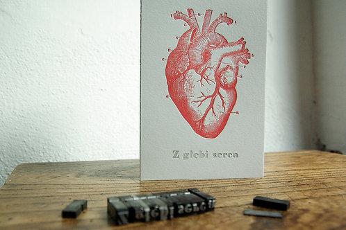 """kartka """"Z głębi serca"""""""