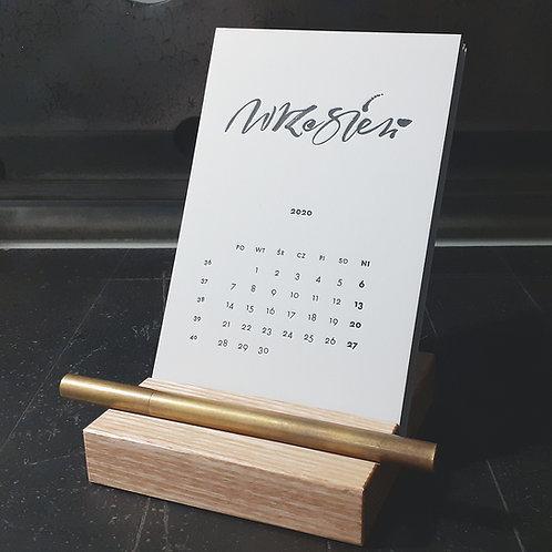 2020 kalendarz biurkowy HELLO Calligraphy - wkład
