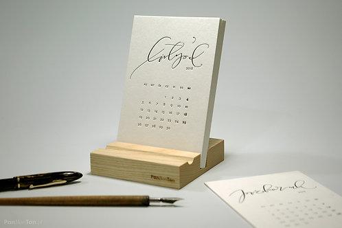 kalendarz biurkowy 2018 hello Calligraphy