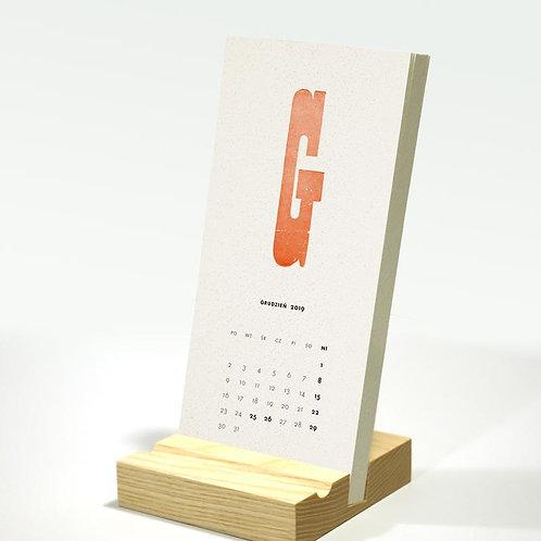2019 TYPOkalendarz biurkowy