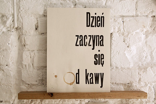 plakat - Dzień zaczyna się od kawy