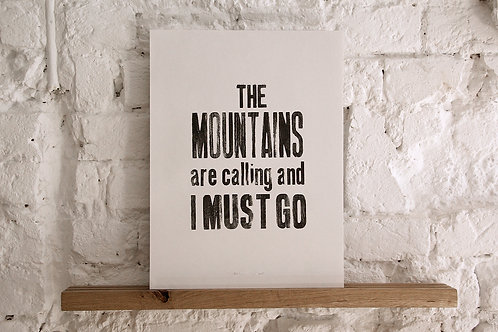 plakat - The Mountains...