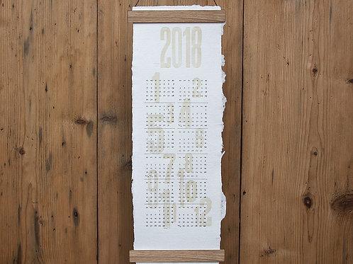 Typo kalendarz ścienny 2018 czcionki