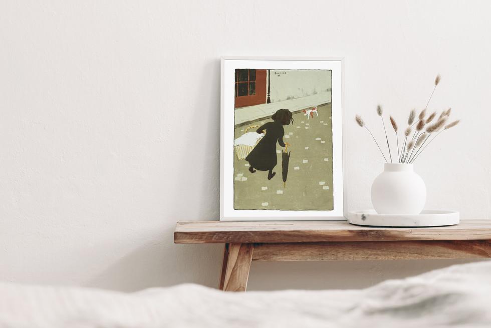 POSTER – La Petite Blanchisseuse (The Little Laundry Girl) from Album des Peintres-Graveurs