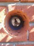 Borrning i vägg för ventilation