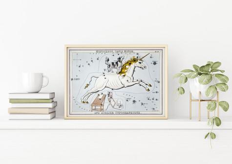 POSTER – Unicorn – Monoceros, Canis Minor, Astrology