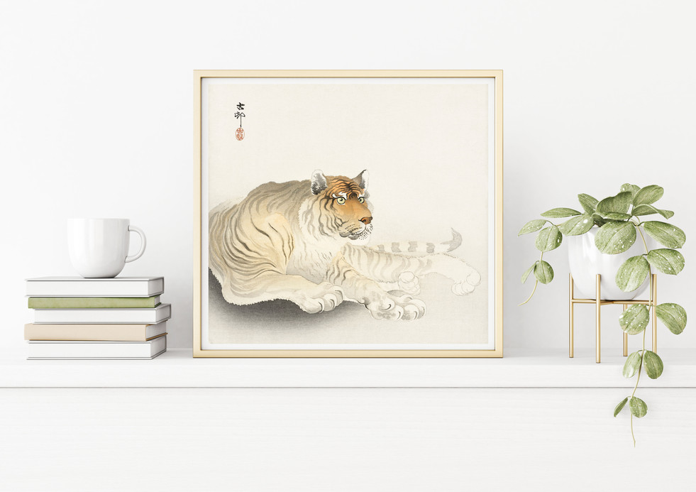 POSTER – Tiger by Ohara Koson, Japanese art