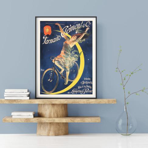 VINTAGE POSTER – Bicycle Advertisement, Fernand Clément & Cie
