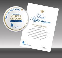 Diplom & badge