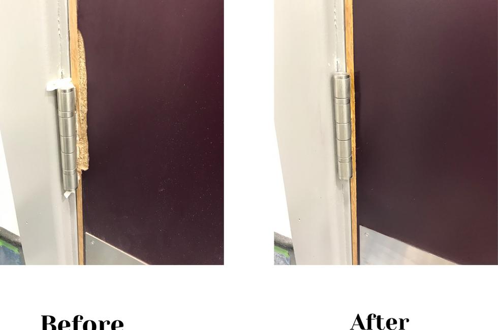 Toilet Door Repair
