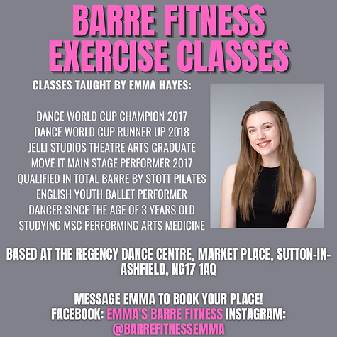 BASED AT The regency dance centre, Market Place, Sutton-in-Ashfield NG17 1AQ Message EMMA