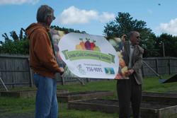 Community garden dedication