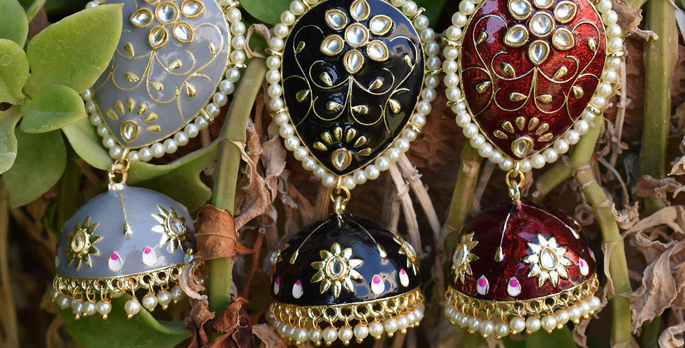 Downward Pear Jhumkas
