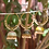 Thumbnail: Checkerboard Jhumka Hoops - Copper Finish