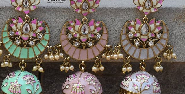 Lotus Jhumki Danglers