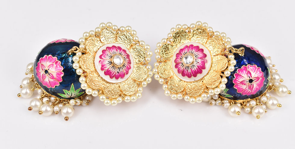 Hand Painted Floral Jhumkas