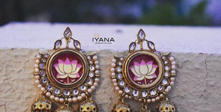 Triple Jhumki Lotus Earrings