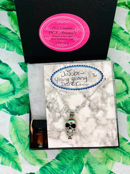 Skull candy Aromatherapy necklace