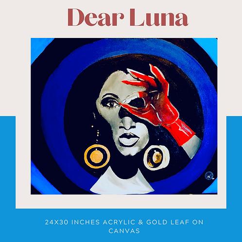 Dear Luna Original Canvas Wall Art
