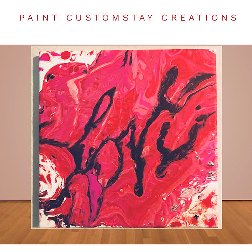 Love is Messy Canvas Wall Art